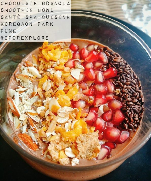 Chocolate Granola Smoothie Bowl - Sante Spa Pune