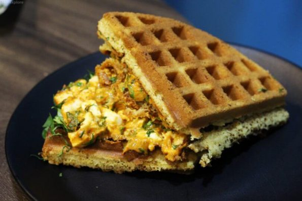 Cottage Cheese Makhani Waffle - Wafflin Around