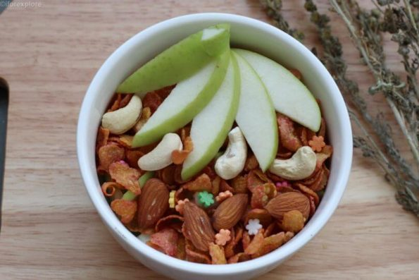 Green Apple and Dry Fruits Breakfast Bowl
