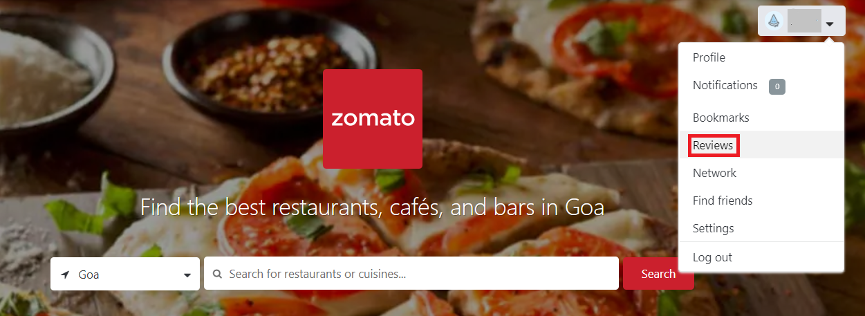 zomato reviews website