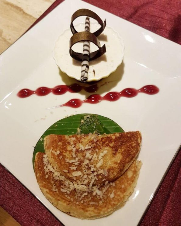 Lemon Grass Panna Cotta and Coconut Pancake