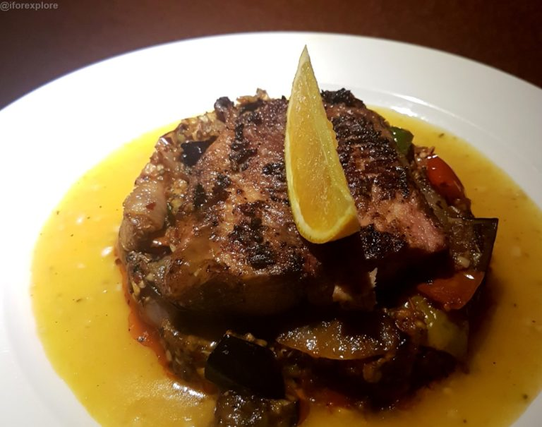Grilled Fish in Orange Butter Garlic Sauce