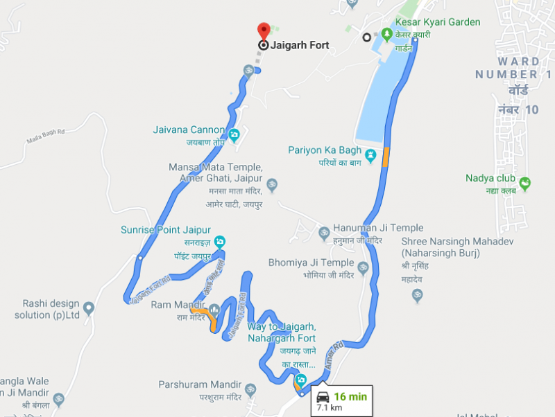 Amer-Fort-to-Jaigarh-Fort-Distance-by-Road